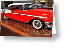 Car - Bel Air - Red Greeting Card by Liane Wright