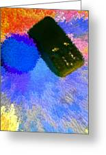 Car Next To Blue Tree In Rain 2 Greeting Card by Bruce Iorio