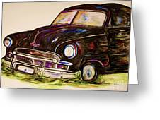 Car Of Character Greeting Card by Eloise Schneider