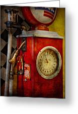 Car - Station - 19 Gallons  Greeting Card by Mike Savad