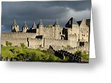 Carcassonne Panorama Greeting Card by Robert Lacy