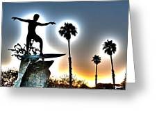 Cardiff Kook Greeting Card by Ann Patterson