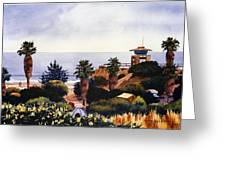 Cardiff State Beach Greeting Card by Mary Helmreich