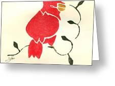 Cardinal Greeting Card by Lori Johnson