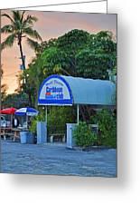 Caribbean Club Key Largo Greeting Card by Chris Thaxter