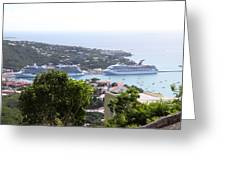 Caribbean Cruise - St Thomas - 1212268 Greeting Card by DC Photographer