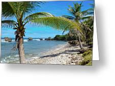 Caribbean Paradise Greeting Card by Karen English