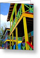Caribbean Porches Greeting Card by Randall Weidner