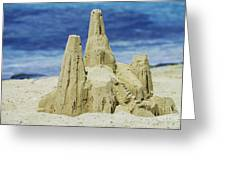 Caribbean Sand Castle  Greeting Card by Betty LaRue