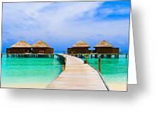 Caribbean Sea Greeting Card by Boon Mee