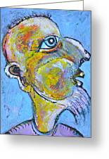 Caricature Of A Wise Man Greeting Card by Ion vincent DAnu