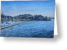 Carilllon Point Marina Greeting Card by Charles Smith