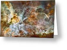 Carina Nebula Greeting Card by Adam Romanowicz