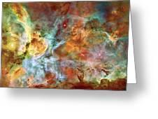 Carina Nebula - Interpretation 1 Greeting Card by The  Vault - Jennifer Rondinelli Reilly