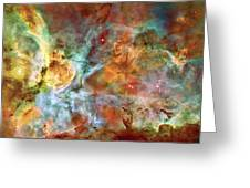 Carina Nebula - Interpretation 1 Greeting Card by The  Vault - Jennifer Rondinelli Reilly