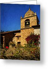 Carmel Mission Greeting Card by Priscilla Burgers