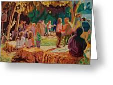 Carmel Valley Hoopla Greeting Card by Thomas Bertram POOLE
