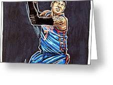 Carmelo Anthony Greeting Card by Dave Olsen
