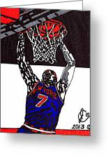 Carmelo Anthony Greeting Card by Jeremiah Colley