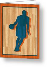 Carmelo Anthony New York Knicks Greeting Card by Joe Hamilton