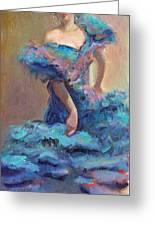 Carmencita Dances Greeting Card by Gwen Carroll