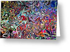 Carnival An Abstract Modern Contemporary Digital Art Greeting Card by Annie Zeno