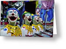 Carnival Clowns Greeting Card by Kaye Menner