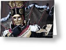 Carnival In Venice 13 Greeting Card by Design Remix