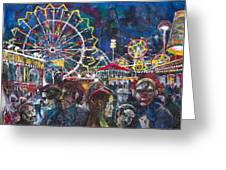 Carnival Greeting Card by Patricia Allingham Carlson