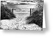 Carolina Beach Entry Greeting Card by John Rizzuto