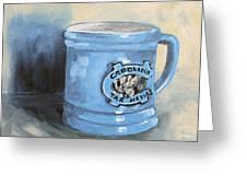 Carolina Tar Heel Coffee Cup Greeting Card by Torrie Smiley