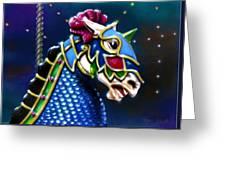 Carousel Greeting Card by Ron Haist