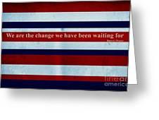 Carpe Diem Series - Barack Obama Greeting Card by Andrea Anderegg