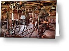 Carpenter - This Old Shop Greeting Card by Mike Savad