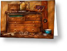 Carpentry - Tools - In My Younger Days  Greeting Card by Mike Savad