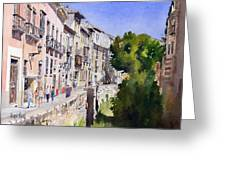 Carrera Del Darro Greeting Card by Margaret Merry