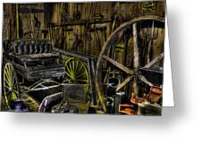 Carriage House Greeting Card by Jay Droggitis
