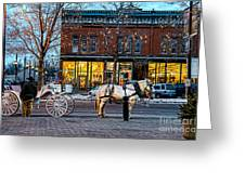 Carriage Ride Greeting Card by Baywest Imaging