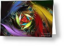 Carribean Nights-abstract Fractal Art Greeting Card by Karin Kuhlmann
