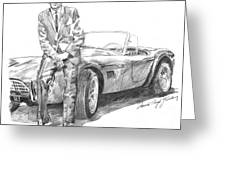 Carroll Shelby And Csx 2000 Greeting Card by David Lloyd Glover
