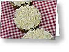 Carrot Cupcakes Greeting Card by Susan Leggett
