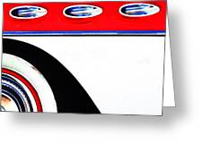 Cars - 50's American Steel Pop Art Greeting Card by AdSpice Studios