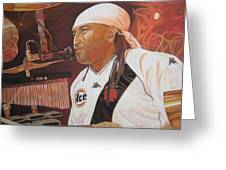Carter Beauford at Red Rocks Greeting Card by Joshua Morton