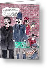 Cartoons Greeting Card by Alan Wilkinson