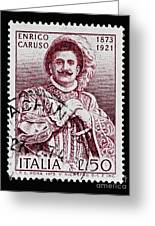 Caruso Greeting Card by Andy Prendy