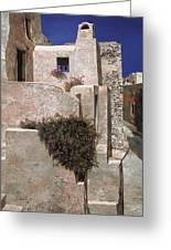 case a Santorini Greeting Card by Guido Borelli