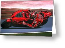 Casey Stoner on Ducati Greeting Card by Paul Meijering