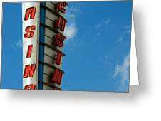 Casino Sign Greeting Card by Norman Pogson