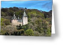 Castell Coch Cardiff Greeting Card by Steve Purnell