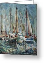 Castellon The Port Greeting Card by Stefano Popovski